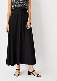 Ann Taylor Paperbag Pocket Maxi Skirt