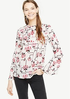 Paradise Floral Flare Sleeve Blouse
