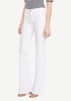 Ann Taylor Patch Pocket Flare Jeans