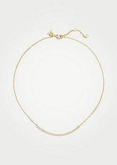 Ann Taylor Pave Bar Necklace