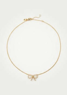 Ann Taylor Pave Bow Delicate Necklace