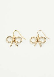 Ann Taylor Pave Bow Earrings