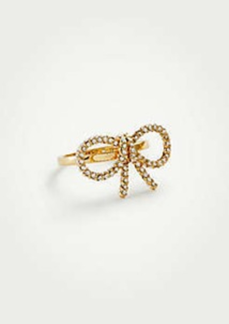 Ann Taylor Pave Bow Ring