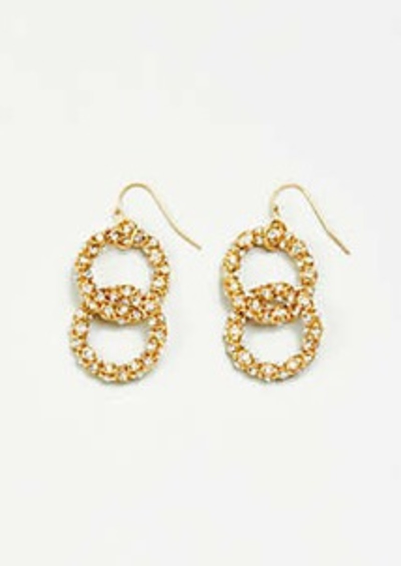 Ann Taylor Pave Chain Earrings