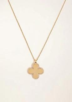 Ann Taylor Pave Clover Pendant Necklace