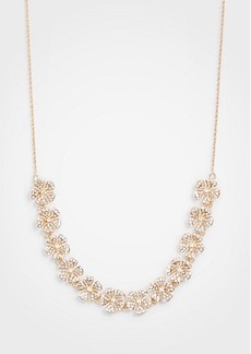Ann Taylor Pave Clover Slider Necklace