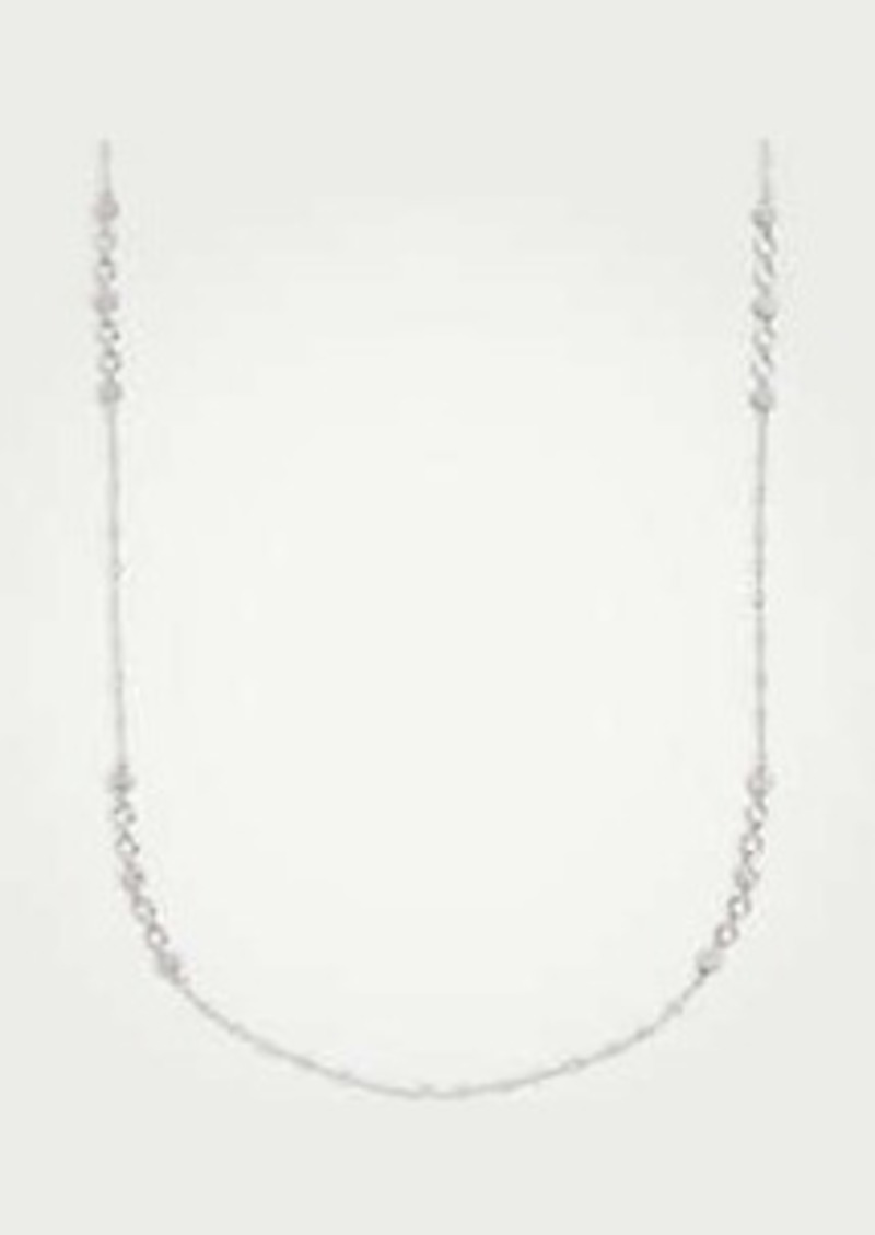 Ann Taylor Pave Disc Station Necklace