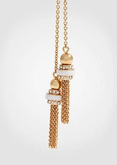 Ann Taylor Pave Double Strand Pendant Necklace