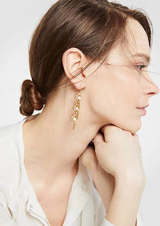 Ann Taylor Pave Flower Tassel Earrings