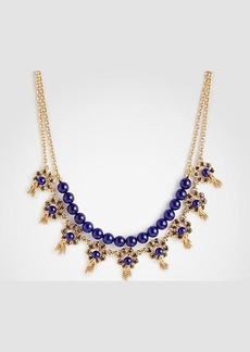 Ann Taylor Pave Flower Tassel Necklace