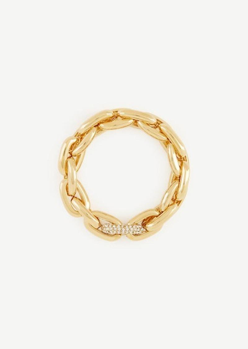 Ann Taylor Pave Link Stretch Bracelet