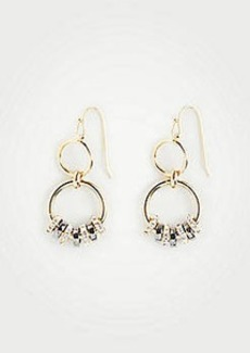 Ann Taylor Pave Mixed Metallic Earrings