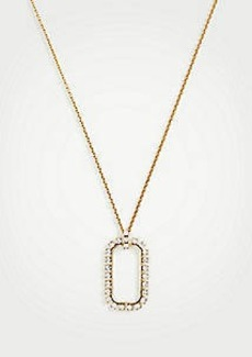 Ann Taylor Pave Rectangle Pendant Necklace