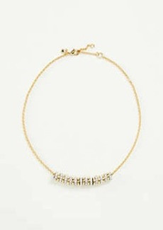 Ann Taylor Pave Rondelle Necklace