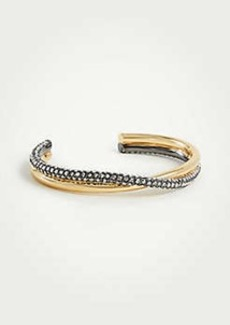 Ann Taylor Pave Twisted Metal Cuff