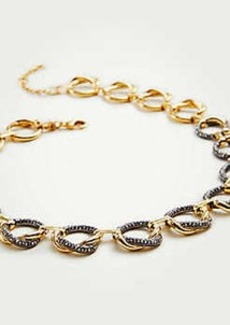 Ann Taylor Pave Twisted Metal Necklace