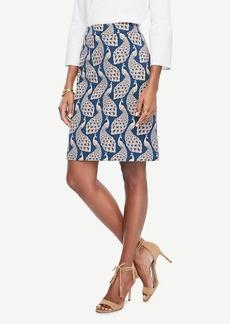 Ann Taylor Peacock Jacquard Skirt