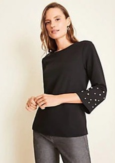 Ann Taylor Pearlized Bell Sleeve Top