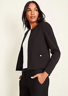 Ann Taylor Pearlized Button Doubleweave Jacket