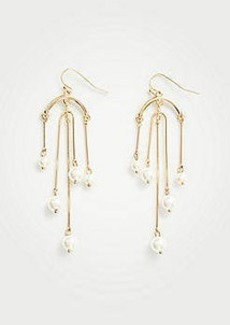 Ann Taylor Pearlized Chandelier Earrings
