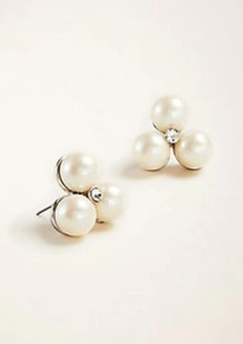 Ann Taylor Pearlized Cluster Stud Earrings