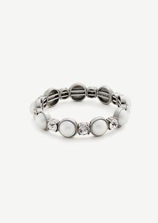 Ann Taylor Pearlized Crystal Stretch Bracelet