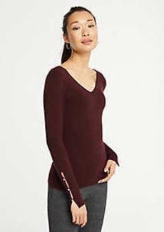 Ann Taylor Pearlized Cuff Sweater