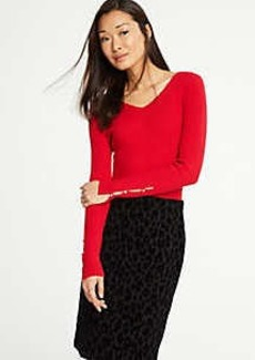Ann Taylor Pearlized Cuff Sweater