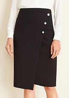 Ann Taylor Pearlized Doubleweave Wrap Skirt