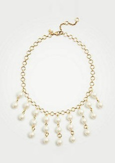 Ann Taylor Pearlized Drop Statement Necklace