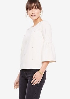 Pearlized Flare Sleeve Top