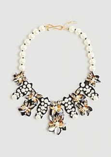 Ann Taylor Pearlized Flower Statement Necklace