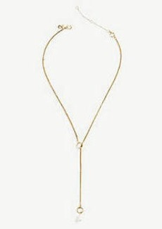 Ann Taylor Pearlized Lariat Necklace