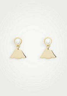 Ann Taylor Pearlized Leaf Earrings