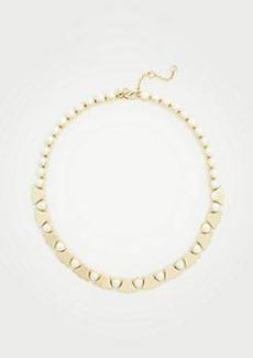 Ann Taylor Pearlized Leaf Necklace