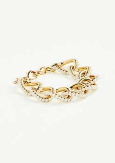 Ann Taylor Pearlized Link Bracelet