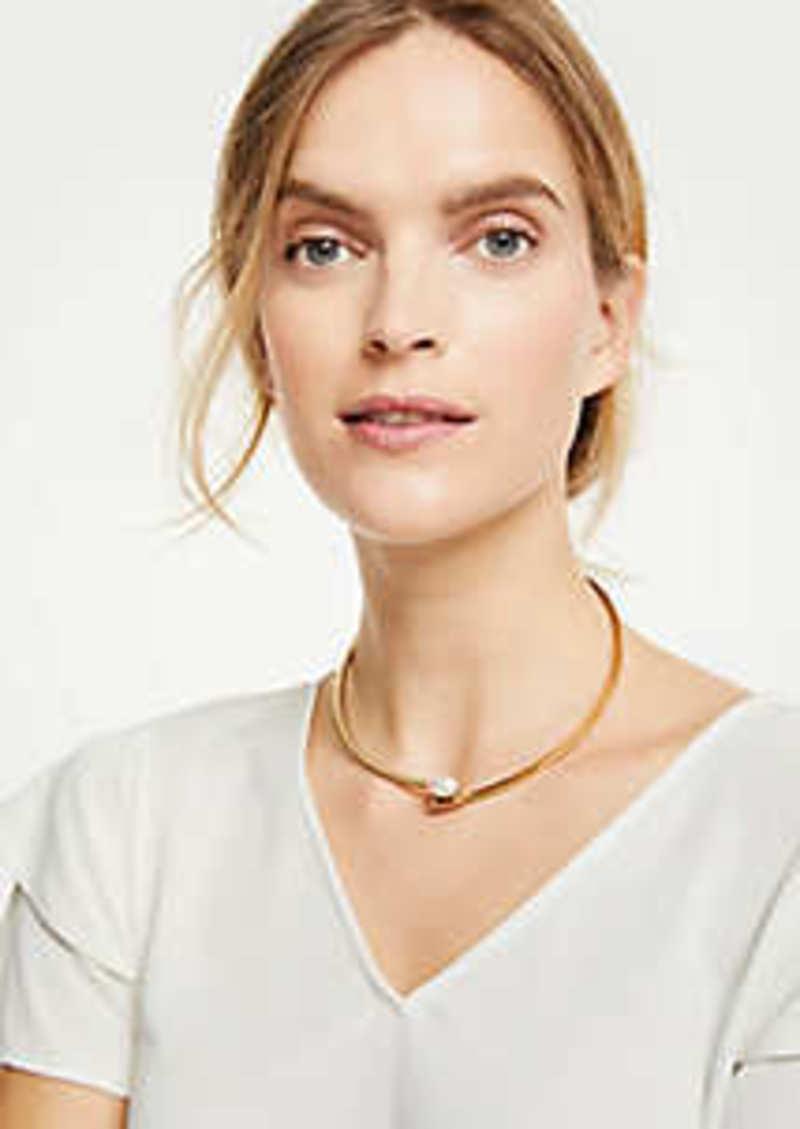 Ann Taylor Pearlized Metallic Collar
