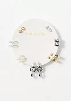 Ann Taylor Pearlized Metallic Stud Earring Set