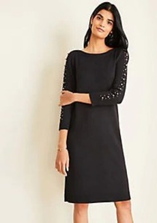Ann Taylor Pearlized Sleeve Sweater Dress