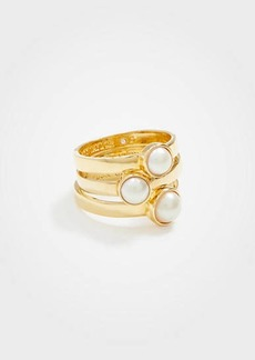 Ann Taylor Pearlized Stacked Ring Set