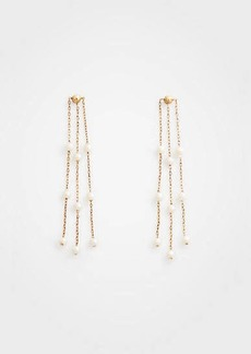 Ann Taylor Pearlized Strand Earrings