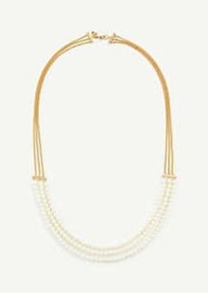 Ann Taylor Pearlized Strand Necklace