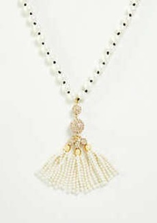 Ann Taylor Pearlized Tassel Pendant Necklace