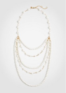 Ann Taylor Pearlized Tier Necklace