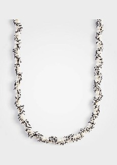 Ann Taylor Pearlized Tweed Station Necklace