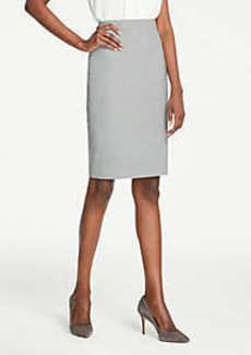 Ann Taylor Pencil Skirt in Graph Check