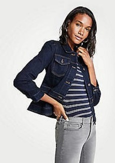 Ann Taylor Peplum Denim Jacket