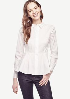 Ann Taylor Peplum Shirt