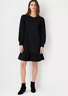 Ann Taylor Peplum Sweatshirt Dress