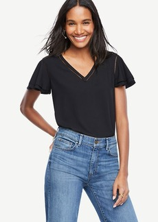 Perforated Flutter Top
